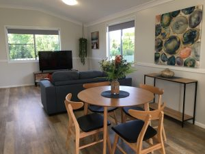 Living and Dining Room decor at Longreach Private Apartments